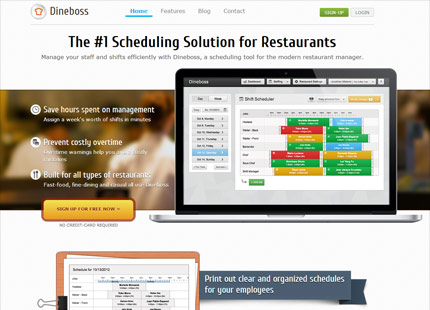 Dineboss Restaurant Scheduler