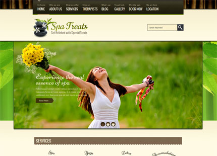 Spa Treats – A Health / Spa Salon HTML Template