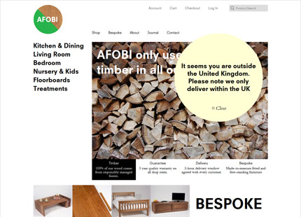 AFOBI London furniture shops