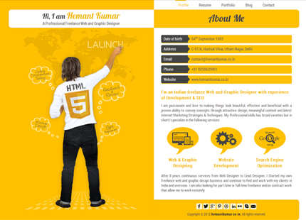 Hemant Kumar – A Professional Freelance Web and Graphic Designer