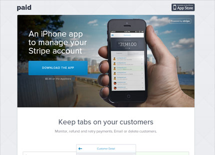 Paid: an iPhone app for your Stripe account