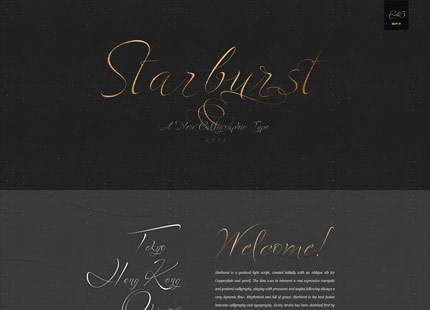 Starbarst – A new Calligraphy Font