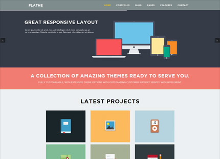 Flathe WordPress Theme