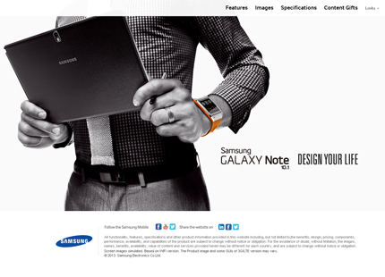 Samsung Galaxy Note 10.1 2014 Edition Microsite