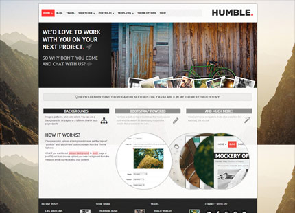 Humble. Responsive Multi-Purpose Drag n Drop WordPress Theme