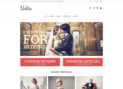 Udita – A Blog & Portfolio WordPress Theme