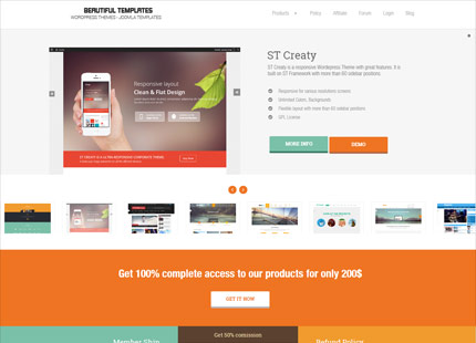 WordPress Themes & Joomla Templates