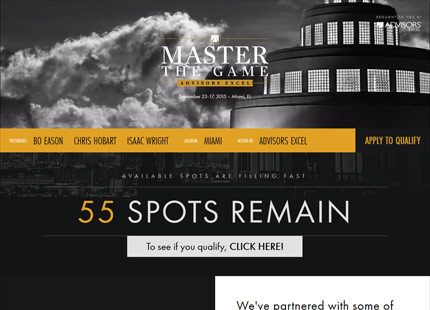 Master the Game Event Site