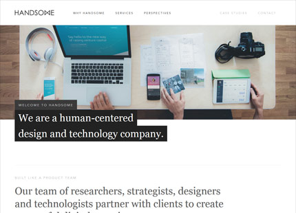 Handsome.is : A human-centered design & technology company.