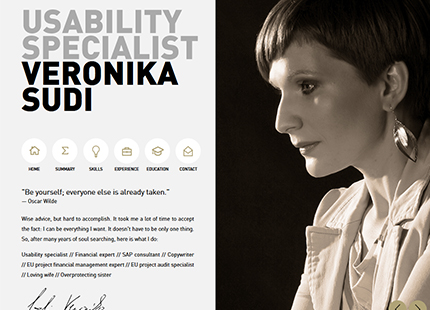Veronika Sudi Online Resume Website